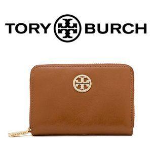 NWT Tory Burch Dena Coin Case Mini Wallet Brown